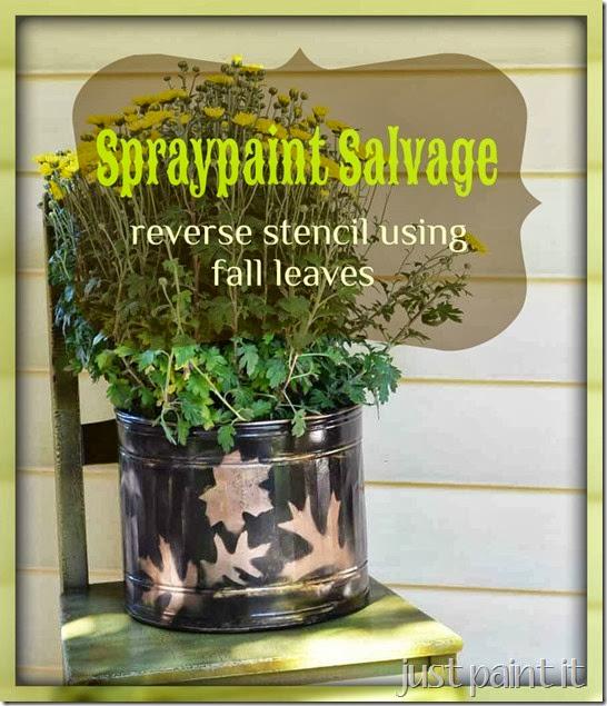 Reverse Stencil Using Leaves