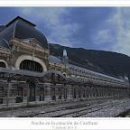 Noche en la estación de Canfranc