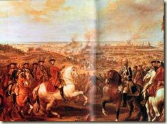 Fontenoy - Louis XV pointe le Maréchal de Saxe victorieux