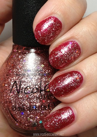 Nicole by OPI Haley Good Lookin'... over Basking in Gloria