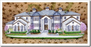 Dream House Custom Wood Ornament
