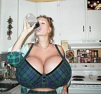 Water enhanced breasts