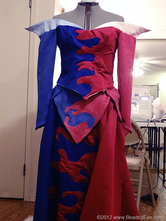 Sleeping Beauty Pink and Blue Gown Construction (30)
