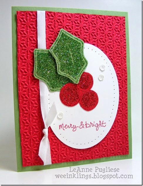 LeAnne Pugliese WeeInklings Stampin Royalty 241 Good Greetings Christmas Glitter Stampin Up