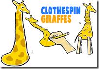 clothespin-giraffes