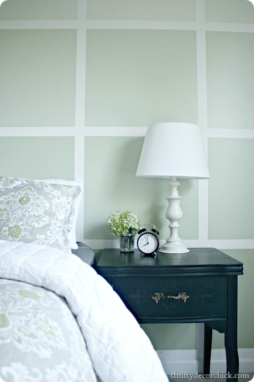 ombre squares on wall