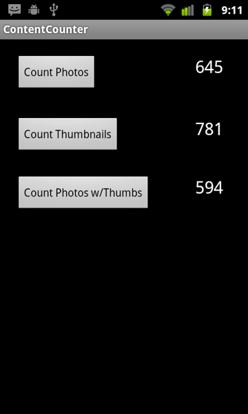 How many pics have thumbs?