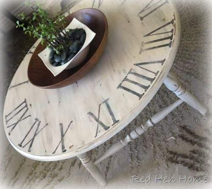 pottery barn clock table