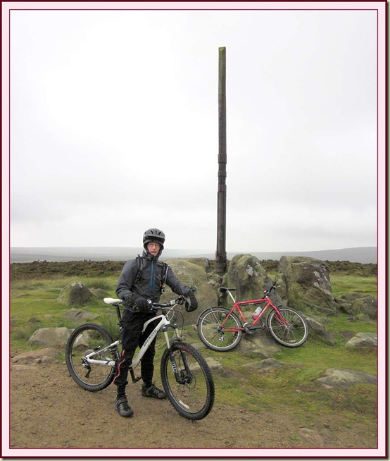 Richard relaxes near the end of the ride, at Stanedge Pole