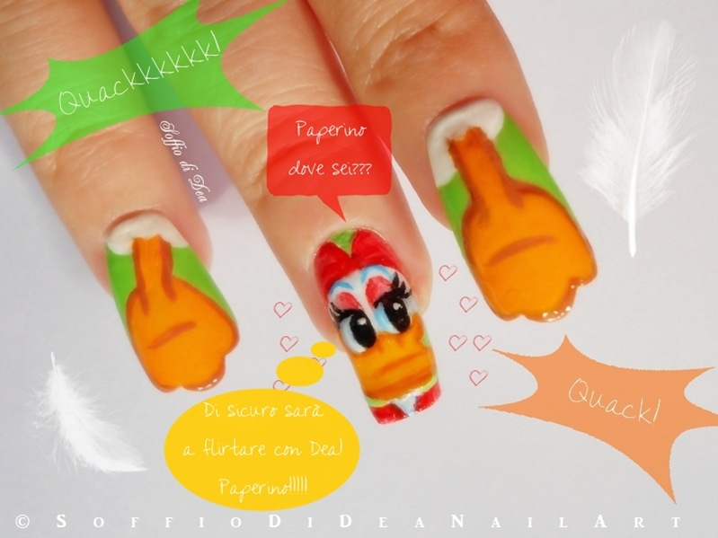 Nail-Art-Paperino-soffio-di-dea-cartoons-3