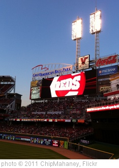 'Cincinnati Reds scoreboard' photo (c) 2011, ChipMahaney - license: http://creativecommons.org/licenses/by/2.0/