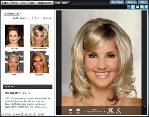 probar corte de pelo y maquillaje online gratis - 5 sitios +