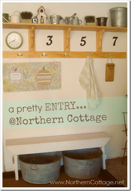 a pretty entry @northern cottage