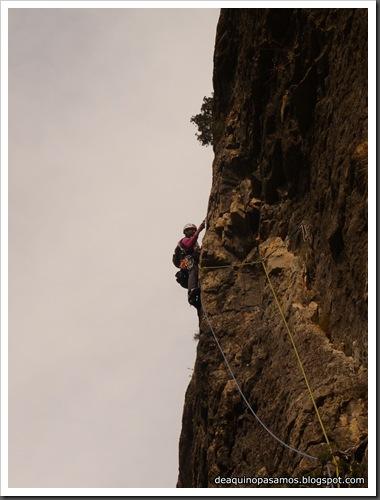Via Gali-Molero 500m 6b  Ae (V  A1 Oblig) (Roca Regina, Terradets) (Omar) 0166