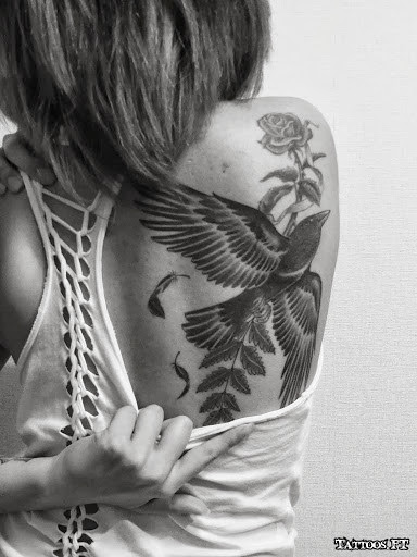 shoulder blade tattoos tattoos ideas. Black Bedroom Furniture Sets. Home Design Ideas