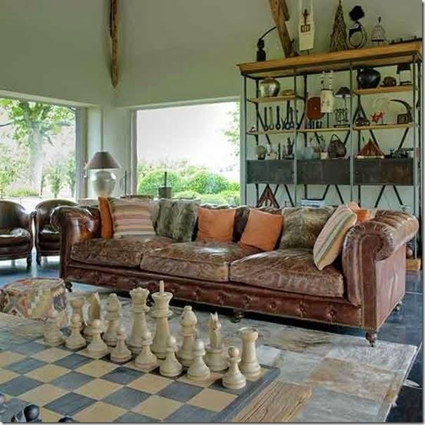 case e interni - stile country chic - soggiorno cucina bagno camera ...