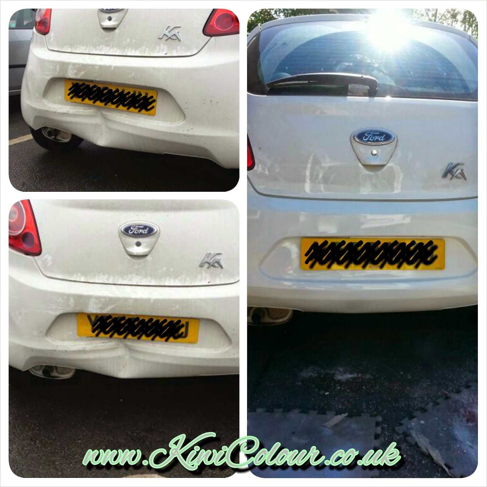 Ford Ka Rear Bumper Dent Repair Halifax