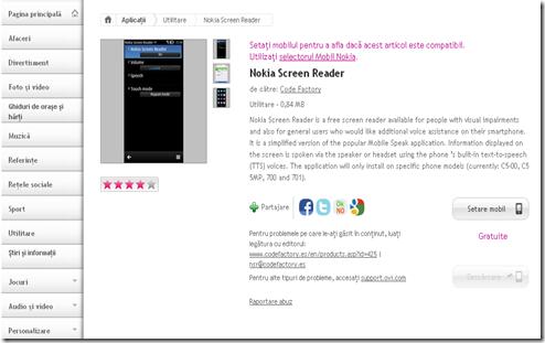 Nokia screen reader pentru nevazatori