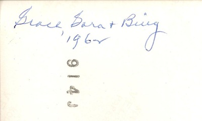 Grace Dora and Bing 1962 DL Antiques back