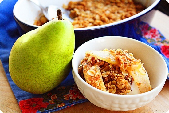 pear ginger crumble recipe