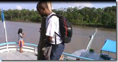 descendo do barco