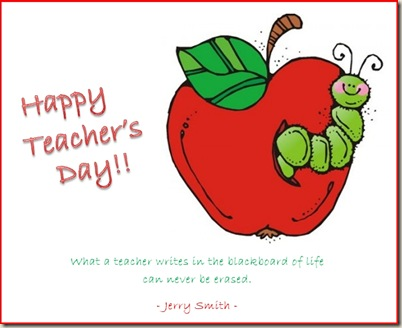 Happy Teacher's Day -
