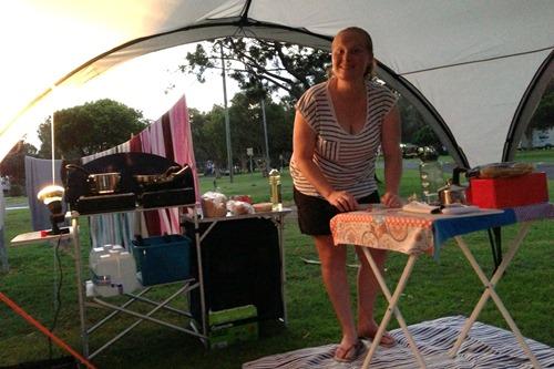 camping me