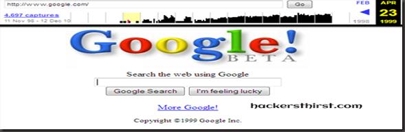 google in 1999