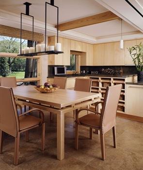 moderna y elegante  diseño de cocina en madera