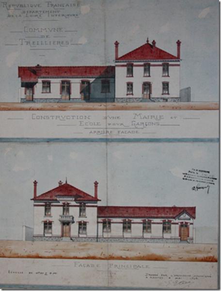 Plans de l'architecte Etève (mai 1908)