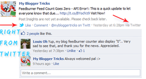 send blog tweets to facebook
