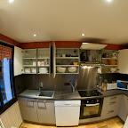 Cuisine équipement 1er étage chalet L'Orée du Bois - Location - Les Carroz