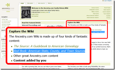 The Ancestry.com Wiki