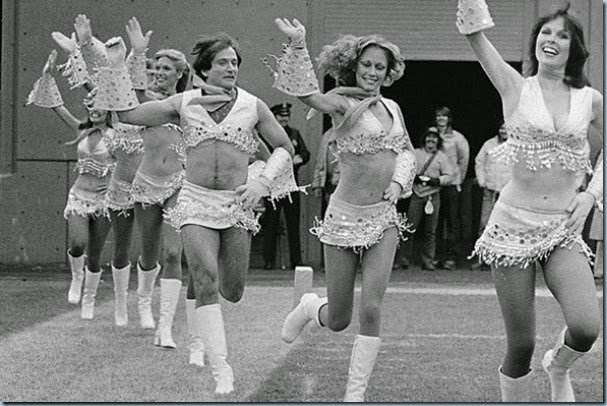 robin williams cheerleader