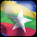 3D Myanmar Flag