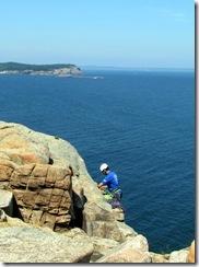 Rock climbing guide at Acadia