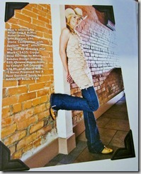 My Dress on the Premier issue of Dirt Road Daughters Magazine
