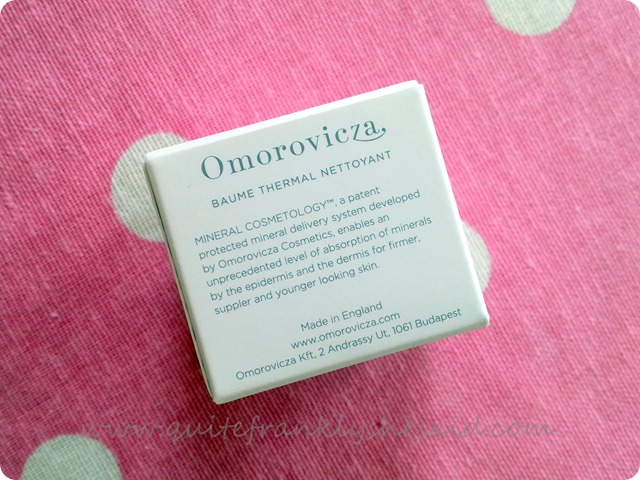 Omorovicza Thermal Cleansing Balm 3