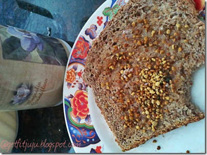 bee pollen toast