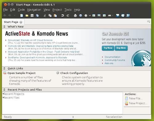 Komodo Edit su Ubuntu