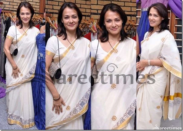 Amala_White_Saree