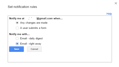 Set notification rule