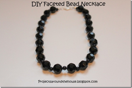 DIY Faceted Bead Necklace Easy