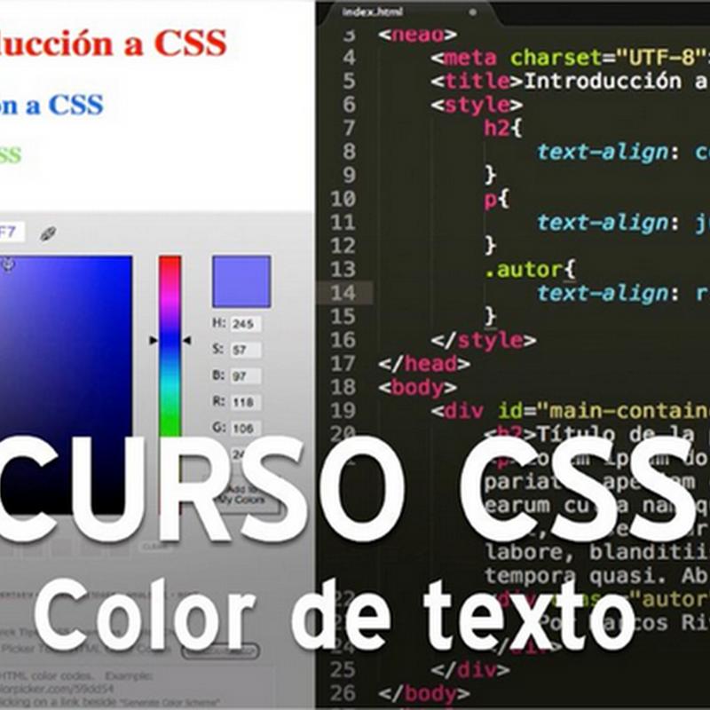 Curso CSS, como usar colores de texto