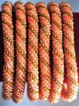 rollover bracelets golden pink