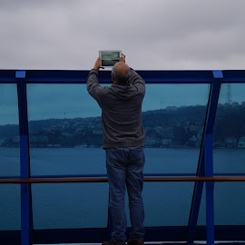 Dardanelles' Double Take by Donald Henninger - Landscapes Travel ( detail, camera, candid, istanbul, cruise, digital, ambient, passenger, tablet, travel location, turkey, light, natural, travel photography,  )
