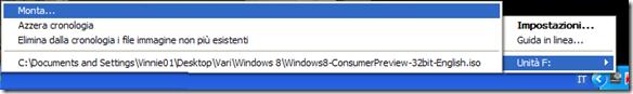 Virtual CloneDrive montare immagine disco