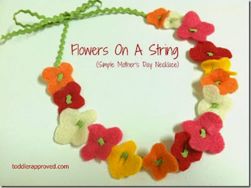 Flowers on a String Mother's Day Craft from Toddler Approved