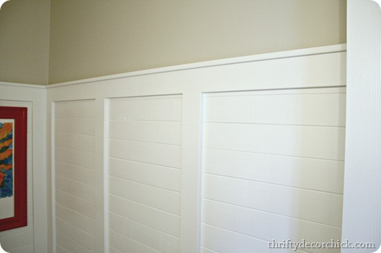 white wood planked walls