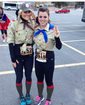 Girl Scouts Race Outfit
